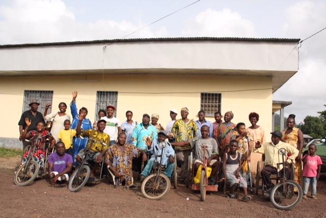 Groepsbijeenkomst met gehandicapten